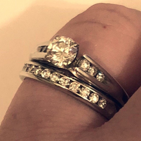 Jewelry Jared Platinum Diamond Wedding Ring Set Poshmark